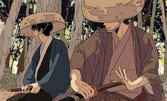 Hijikata & Kondo | Gintama | Artist: 丸千代(@0tiyo)さん (Twitter)