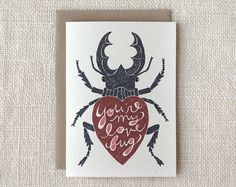 Love / Anniversary Card - Love Bug