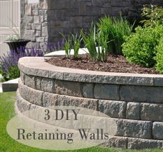 Retaining Wall Design - Landscaping and Landscape Design for Patio, Retaining Wall, Backyard and Garden Yard Ideas, Lawn And Garden, Garden Projects, Garden Bed, Diy Retaining Wall, Retaining Wall Design, Backyard Retaining Walls, Sloped Backyard, Sloped Garden
