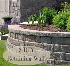 3 DIY retaining walls