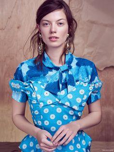 Miu Miu Dress, Erdem Blouse and Replica Vintage Earrings