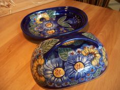 How do you like this dark butter dish? Polish pottery
