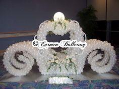 Cinderella Theme Weddings & Quinceañeras by Balloons Milwaukee and Carmen Ballering - Make Your's a Memorable Event Cinderella Theme, Cinderella Wedding, Balloon Arrangements, Balloon Decorations, Reception Ideas, Wedding Reception, Baloon Art, Balloon Designs, Love Balloon