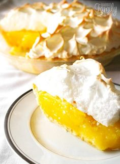 Mom's Lemon Meringue Pie is one of my all-time favorite pies. The lemon filling is tart and smooth and the meringue is light and creamy. The perfect pie!