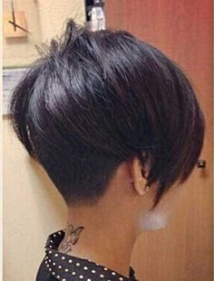 Very Short Dark Bob Hairstyles