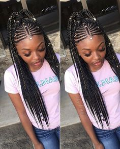 african braids hairstyles Latest African Braided Hairstyles For Black Women Fashion Ruk Black Girl Braided Hairstyles, Braided Ponytail Hairstyles, Black Girl Braids, African Braids Hairstyles, Braids For Black Hair, Girls Braids, Weave Hairstyles, Hairdos, Protective Hairstyles
