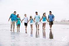 Family Photo Color Coordination | Family Portrait Sessions by Femina Photo + Design