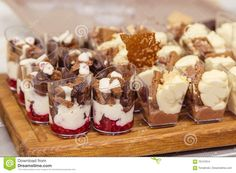 French Pastry. Desserts In Glass Stock Photo - Image: 70147614