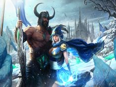 Tryndamere and Ashe League Of Legends Fan-Art | Art-of-LoL