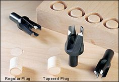 Veritas® Tapered Snug-Plug® Cutters - Woodworking