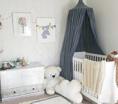 Ice blue canopy #numero74 #babyroom #babydecor #kidsroom #kidsdecor & Boyish room with a touch of Ice blue! Canopy by Numero74 ...