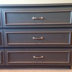 IKEA Hack.  Malm dresser to vintage chic. All materials from Home Depot.