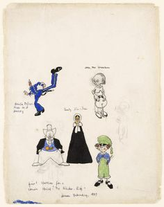 Studies for the comic The Kin-der-Kids  Lyonel Feininger (American, 1871–1956)