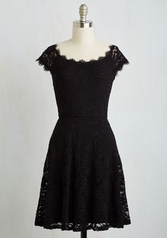Intrinsic Allure Dress. Theres just something about this classic black dress that always makes you swoon! #black #modcloth