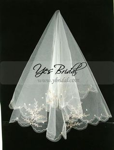 CLICK IMAGE TWICE FOR PRICING AND INFO:) #wedding #weddingideas #weddingveil See More wedding accessories at http://www.zbrands.com/Wedding-Accessories-C52.aspx 1 Layer Fingertip Length Wedding Veil WFV0008