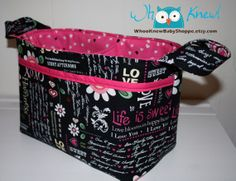 Divided Fabric Basket/Diaper Caddy  Love by WhooKnewBabyShoppe, $32.00
