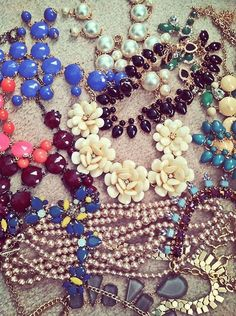 eastcoastclassco:  My statement necklaces are multiplying