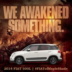 Godzilla returns to theaters and this time he's after a potential choking hazard - the 2014 Fiat 500L. Click the image to watch this epic battle.