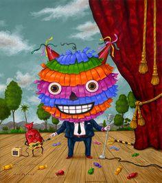 Made by: Robert Palacios - (Pinata, candy man)