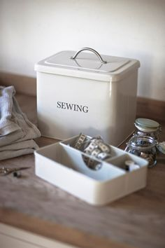 Sewing Box in Chalk at Garden Trading