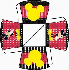 Resultado de imagen para caja para imprimir mickey