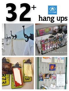 DIY #32 + Hanger Ideas for Every Object and Space in Your Home ! Including projects for Storage, Organization and Interior Decor !
