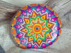 sunspirit / mandalas / peace / painted rocks / painted stones / zen / meditation / art rocks / sandi pike foundas / by LoveFromCapeCod on Etsy
