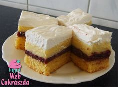 Mesés szedres krémes Hungarian Cake, Hungarian Recipes, French Toast, Cheesecake, Sweets, Breakfast, Food, Cakes, Kitchen