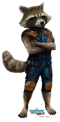 "ROCKET RACCOON Cardboard Cutout Standup / Standee from ""Guardians of the Galaxy Vol 2 (2017)"" 
