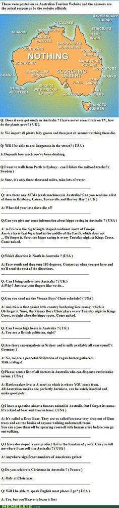 Sarcastic Australia is sarcastic. And I love it!!