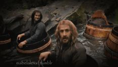 """""""Kili, stop rocking your barrel!"""" I'd be rocking too,Kili knows how to have some fun/entertainment. The Hobbit Movies, O Hobbit, Love The Lord, Lord Of The Rings, The Ring Series, Heroes And Generals, Star Trek Reboot, Inheritance Cycle, Supernatural Tumblr"""