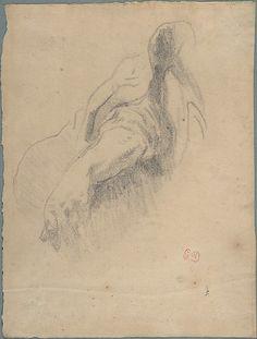 Study of a Left Arm and Hand  Eugène Delacroix