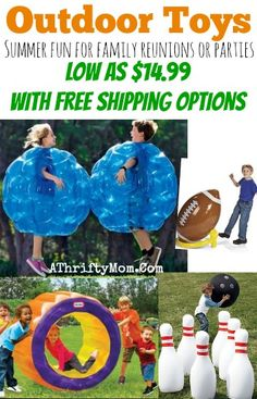SUMMER TOYS for kids and teens lifesized fun, perfect for family reunions, parties and summer fun