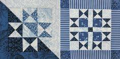 Tudo azul do bloco Dia Hop 6 - Clothworks