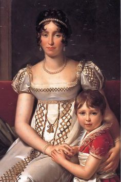 Hortense de Beauharnais with her son Napoleon Charles Bonaparte. Hortense de Beauharnais with her son Napoleon Charles Bonaparte 1806 - Francois Gerard - oil painting reproduction Jane Austen, Empress Josephine, Napoleon Josephine, Regency Dress, Regency Era, French History, Art History, French Royalty, Monalisa