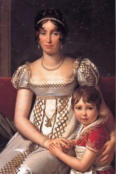 François Gérard: Hortense de Beauharnais with her son Napoleon Charles Bonaparte (detail) (1806)
