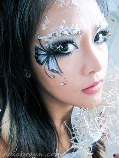 Glitter & ice snow Butterfly Fairy Makeup | Adia Braun