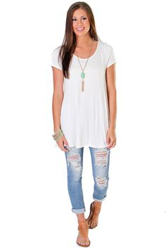 WHITE OUT TEE | CABOOSE BOUTIQUE