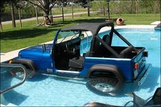 Jim enjoying the top down on his old 1990 Jeep Wrangler YJ. Description from funny-pictures.picphotos.net. I searched for this on bing.com/images