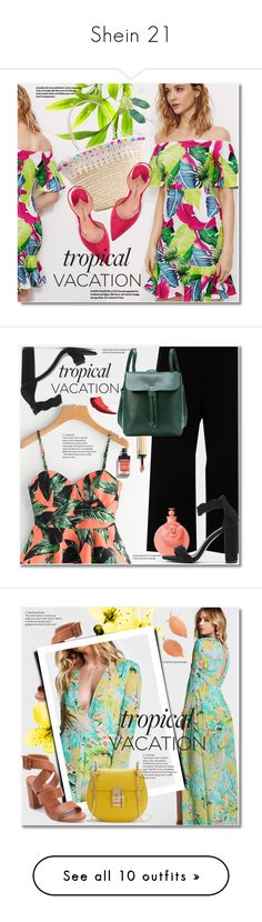 """""""Shein 21"""" by svijetlana ❤ liked on Polyvore featuring Paul Andrew, TropicalVacation, shein, Lafayette 148 New York, Valentino, Givenchy, tropicalprints, Plein Sud, WithChic and bows"""