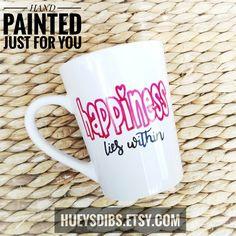 Excited to share the latest addition to my #etsy shop: Happiness LIES WITHIN * 14oz handpainted mug * coffee lovers mug * tea cup #housewares #coffeemug #teamug #custommug #coffeelover #muggift #personalizedmug #handpaintedmug #customcoffeecup http://etsy.me/2hNf6vO