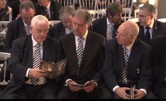 Alan Mullery, Mike England and Phil Beal at Dave Mackay's funeral.