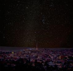 غرداية - الجزائر - منظر ليلي  Ghardaia - Algeria - A night view