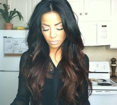 dark ombre hair... love it!