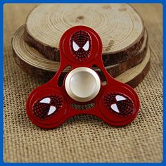 Tri-Spinner Fidget Toy Hand Spinner Metal SpiderMan, Stress Reducer Relieve Anxiety, Boredom and EDC (Marvels) Red - Fidget spinner (*Amazon Partner-Link)