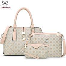 3 / set o saco carta bolsa de grife mulheres xadrez listrado bolsa de ombro Femal para mãe(China (Mainland))