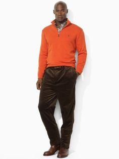 Cotton Half-Zip Sweater - Big & Tall Sweaters - RalphLauren.com