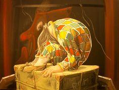 LA SPIA DEL SOGNO ...tutti dormono e si confessano a se stessi: speranze, amori, illusioni, tormenti e anche nel sogno, si recita ancora... la maschera spia, la recita continua...