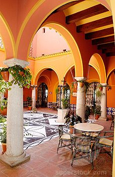 Patio, Arcos de la Frontera, Andalucía, Spain.  http://www.costatropicalevents.com/en/costa-tropical-events/andalusia/welcome.html