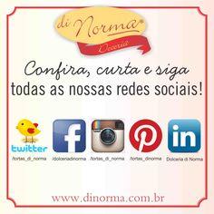 Bom dia, que tal começar o dia curtindo e seguindo nossas redes sociais? I #love #DiNorma #cake #siga #curta